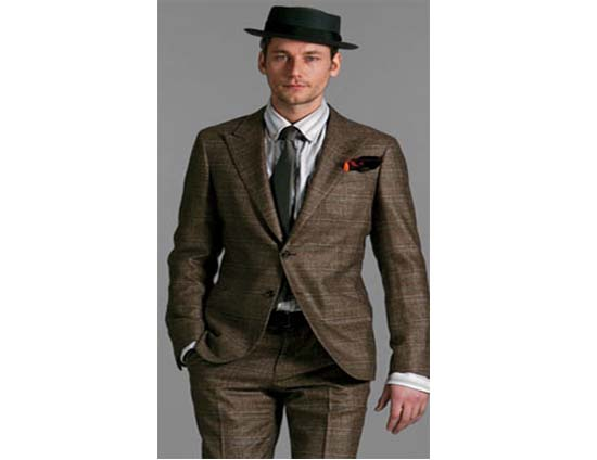 Bottega Veneta Ebano Glen Check suit