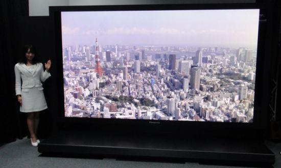 Panasonic's 145-Inch 8K Resolution Plasma TV
