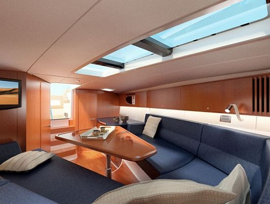 Corsair 36 European edition tender yacht stateroom