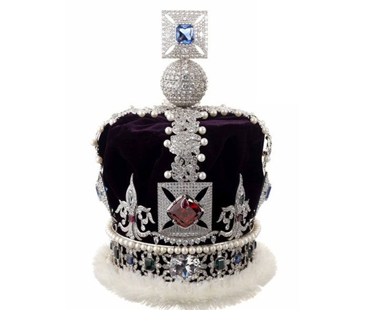 Replica of Queen Elizabeth's Crown jewels