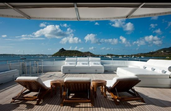 Apogee 205-foot Mega-Yacht top deck