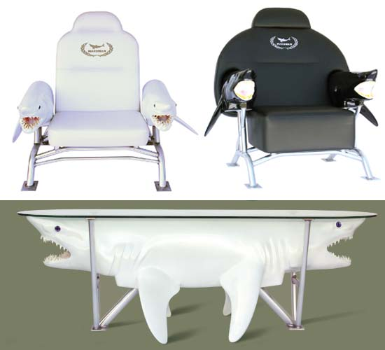 Makoman shark themed furniture