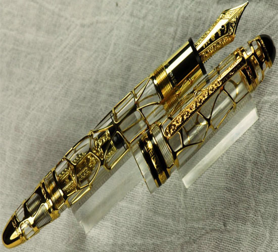 75th Anniversary Solid Gold Skeleton Fountain Pen