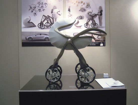 Mercedes-Benz style inspired luxury baby pram concept
