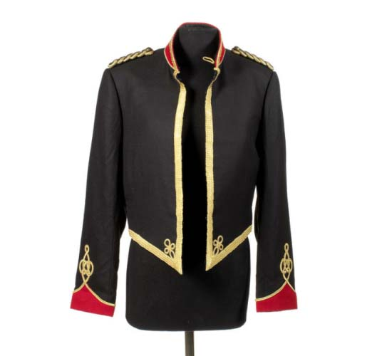 MJ's trademark military-style jacket