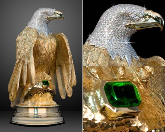 $6 Million Golden Eagle: One of the world's largest gold statue goes for sale to benefit Breast Cancer