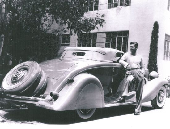 Clark Gable's 1935 Duesenberg Model JN Convertible Coupe for sale