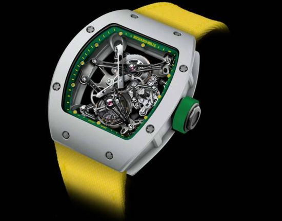 Yohan Blake wears Richard Mille Tourbillon at the 2012 London Olympics