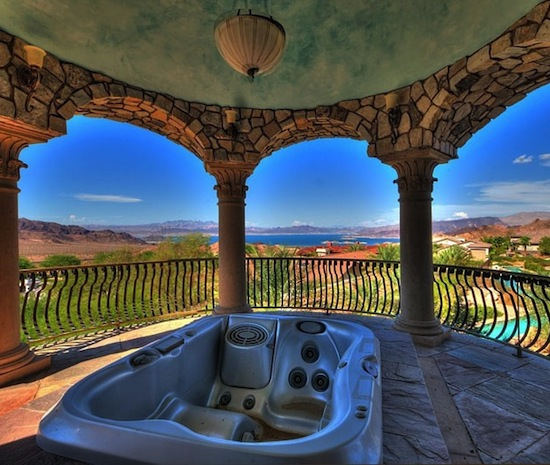 Jacuzzi on terrace
