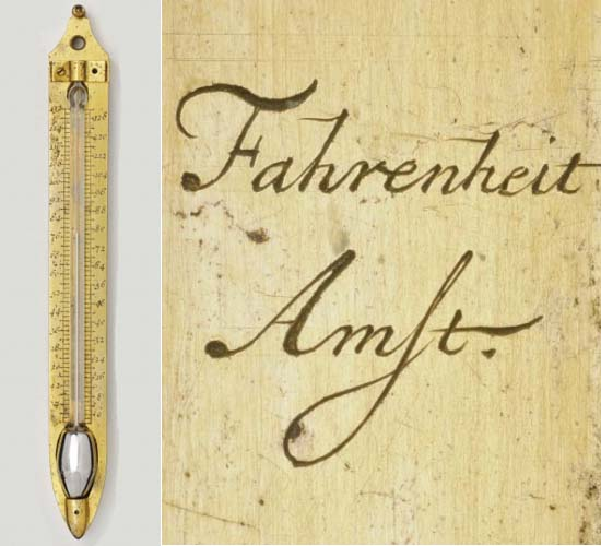 An original thermometer invented by Daniel Gabriel Fahrenheit to fetch £100,000 at auction.