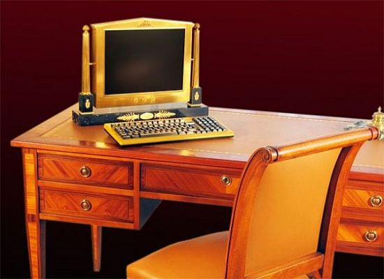 A gold-plated computer inspired by the 16th century French King Louis XVI
