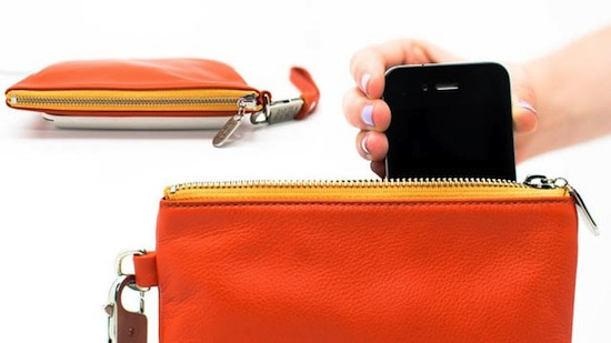 Everpurse with built-in battery charger