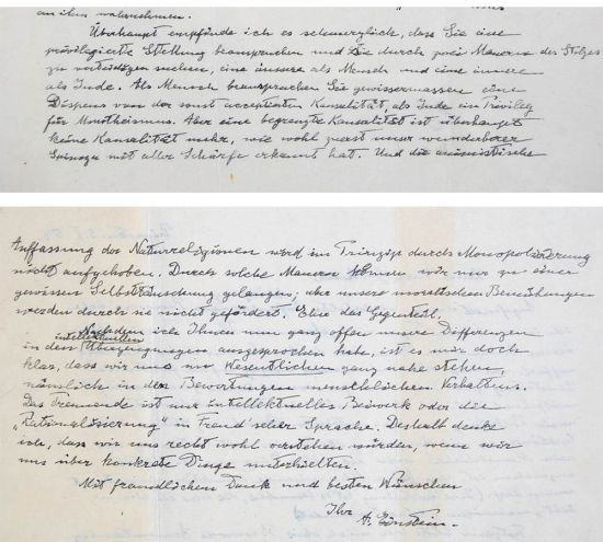 Albert Einstein's Letter to God handwritten a year before his death to auction at eBay with a starting bid of $3 million