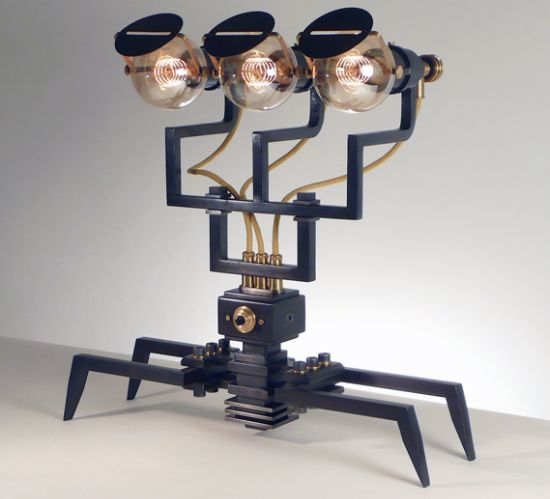 Handcrafted Machine Lights by Frank Buchwald is inspired by Aliens