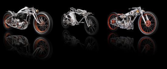 Japanese designer Chicara Nagata's artistic motorbikes takes 8,000 hours to complete