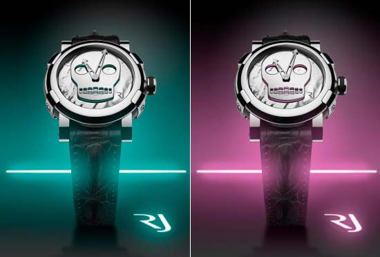 Romain Jerome's Art-DNA collection features Skull Watches by John M ArmlederRomain Jerome's Art-DNA collection features Skull Watches by John M Armleder