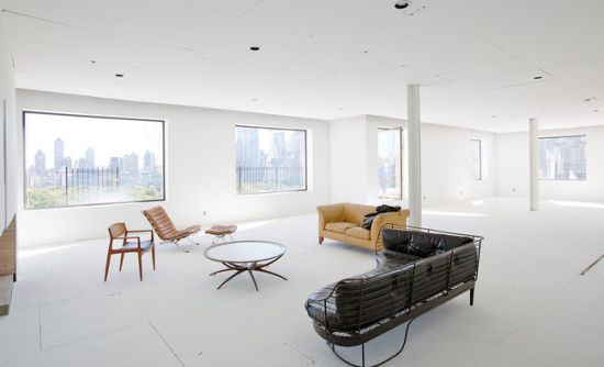 New York City Duplex Penthouse Interior