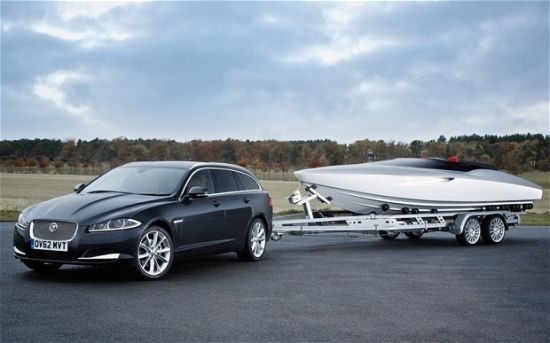 Jaguar unveils concept speedboat to complement the new Jaguar XF Sportbrake