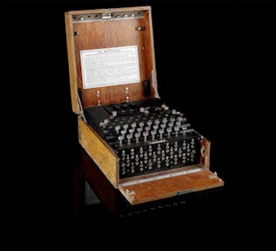 WW II German Enigma enciphering machine