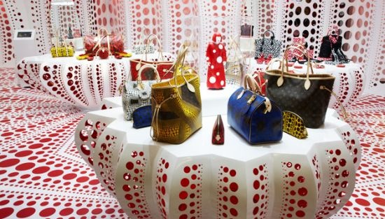 Yayoi Kusama's collaboration with French luxury design house Louis Vuitton