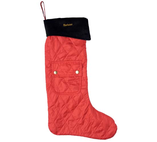 Barbour's $46 red and black stockings