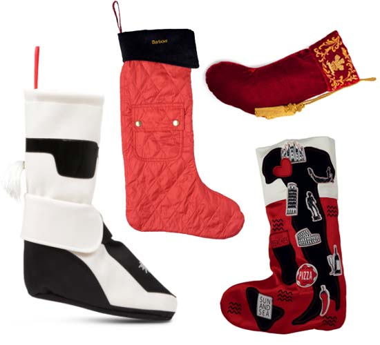 Selfridges offers fashionable Christmas stockings designed by Karl Lagerfeld and Henry Holland