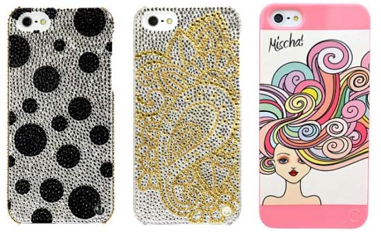 the Unique by Mischa cases start at a price of $40 and go up to $960 for a Swarovski crystal encrusted model.
