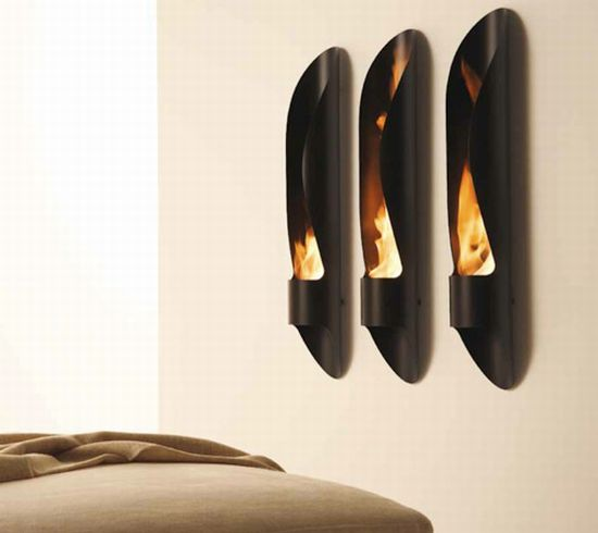Tube Outdoor Bioethanol Fireplace by Acquaefuoco