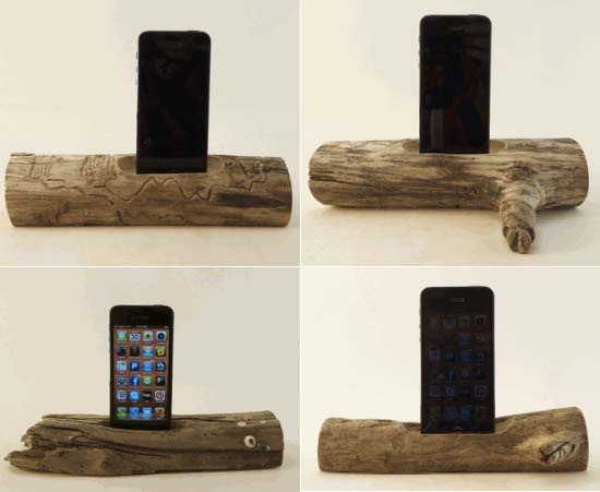 Suzie Automatic Driftwood iPhone Docks