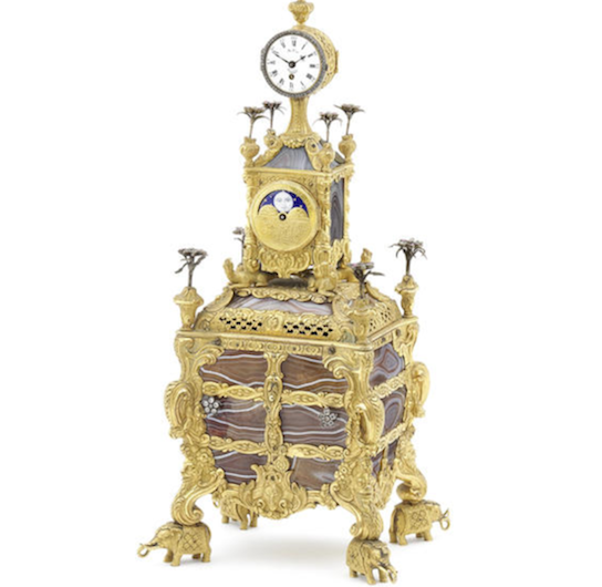 James Cox musical ormolu table clock