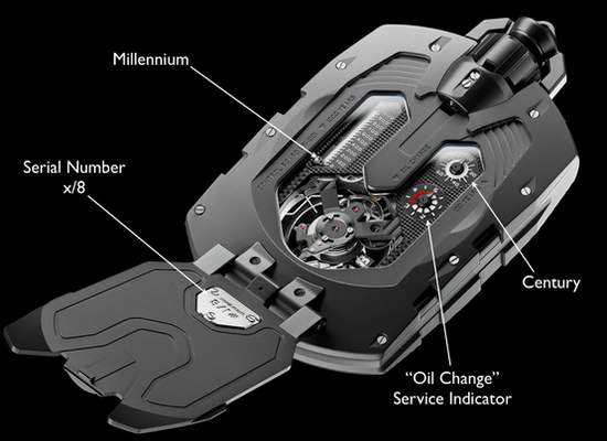 Urwerk UR-1001 Zeit Device is one of the world's most complicated watches