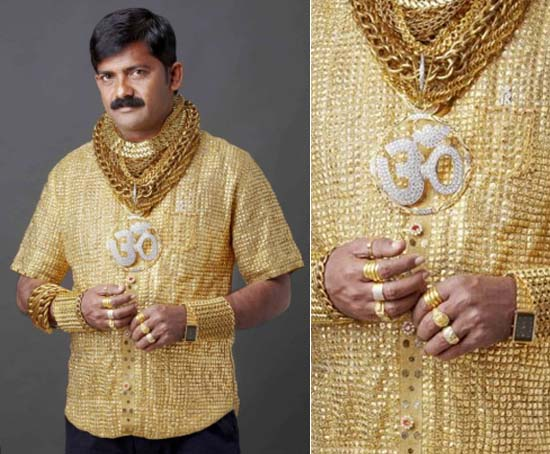 Indian businessman Datta Phuge's most expensive shirt made of 22-karat gold costs $235,000