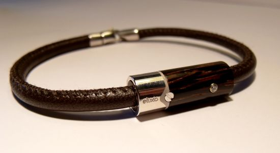 Eluxio precious bracelets made of exotic wood and nappa leather