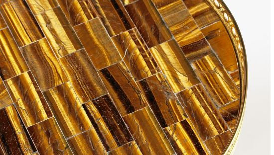 Paul M Jones Tiger Eye Mosaic detail