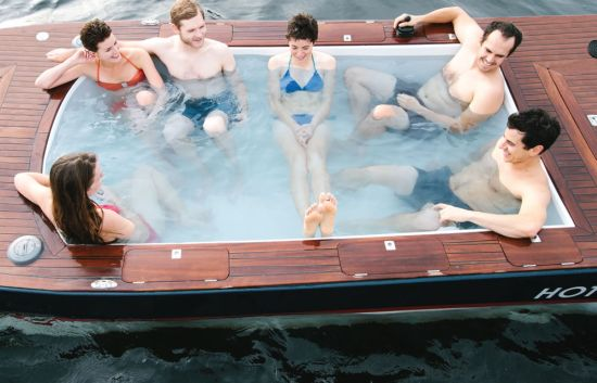 Hot tub electric boat