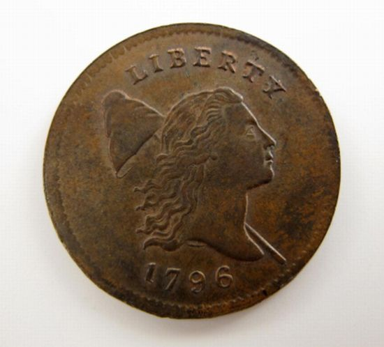 Undiscovered for 50 years: Rare 1796 U.S. Liberty half-cent coin sells for over $350,000