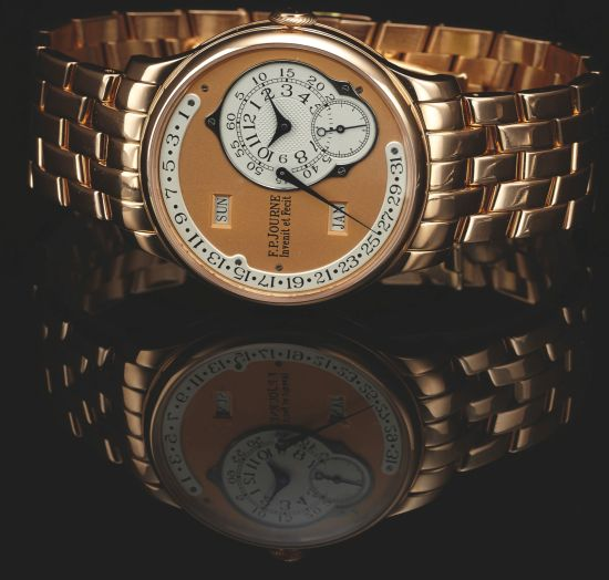 F.P Journe Octa Calendat on Bracelet 252 pink gold