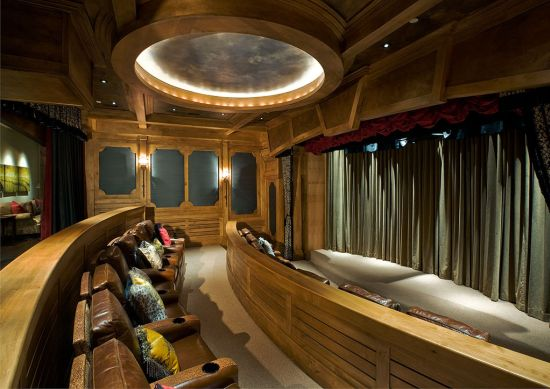 The ski-in/ski-out chalet at Deer Valley Resort comes with grand home theater