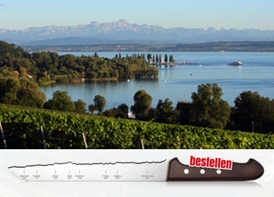 Lake Constance Panorama Knife
