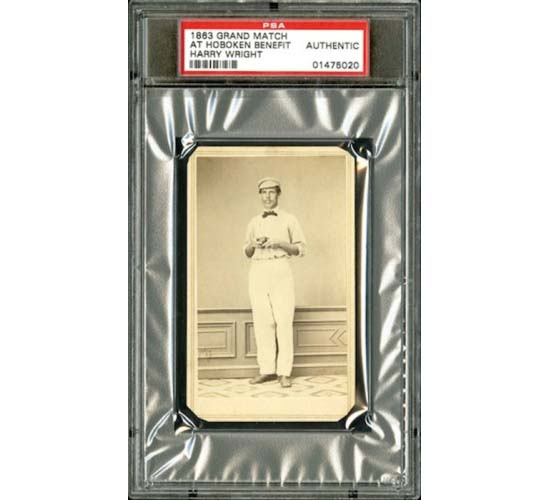 First Baseball Card, 1863