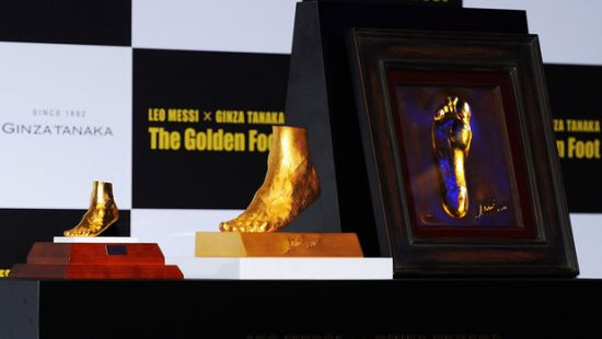 Golden boy Lionel Messi's left foot on sale