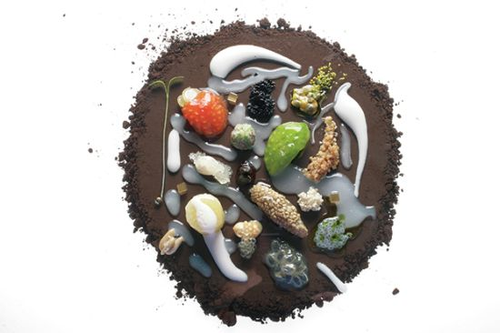 Chef Ferran Adria's 'The seeds' dish