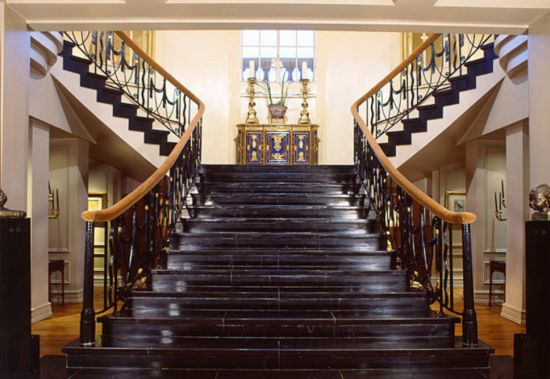 The Lobby staircase
