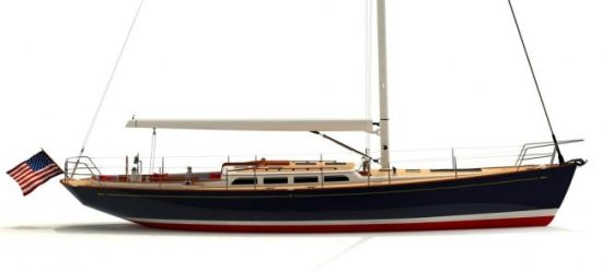 Morris Yachts M46 sailing yacht side view