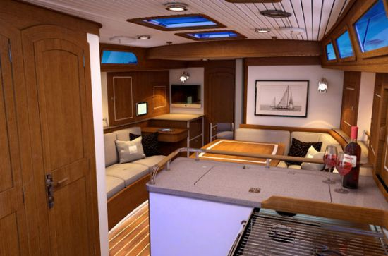 Morris Yachts M46 sailing yacht sitting area