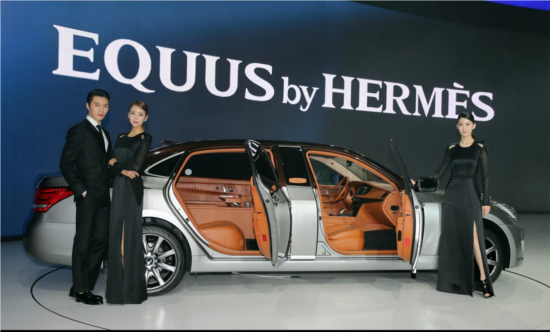 2013 Hyundai Equus for Hermes edition at Seoul Motor Show