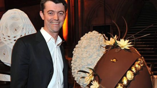 William Curley with World's Most Expensive chocolate easter egg