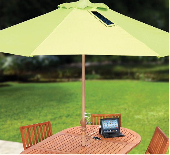 Patio Umbrella with solar panel