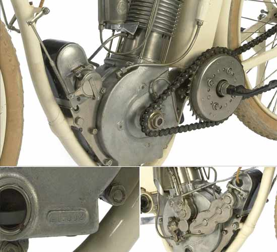 Steve McQueen's 1914 Indian Model F Board racing bike engine