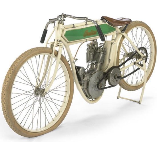 Steve McQueen's 1914 Indian Model F Board racing bike without clutch and brakes